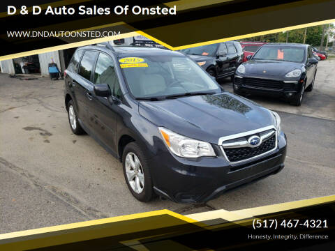 2015 Subaru Forester for sale at D & D Auto Sales Of Onsted in Onsted   Brooklyn MI