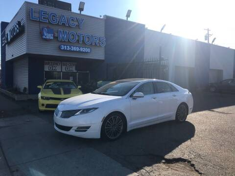 2014 Lincoln MKZ for sale at Legacy Motors in Detroit MI