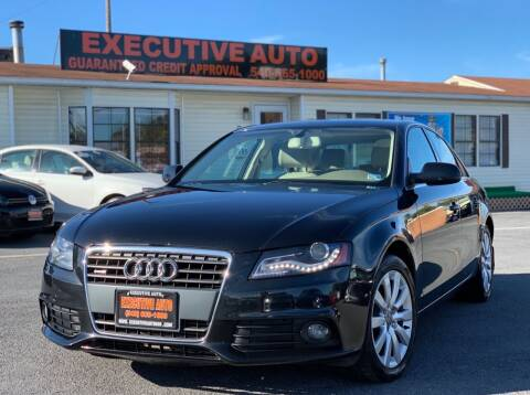 2012 Audi A4 for sale at Executive Auto in Winchester VA