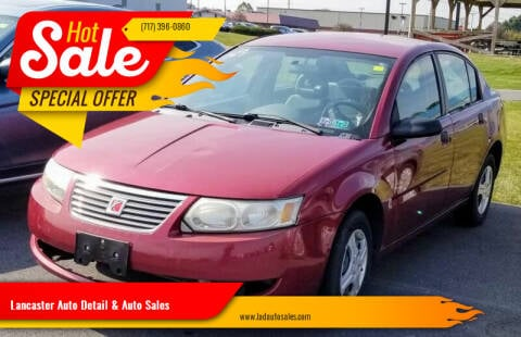 2005 Saturn Ion for sale at Lancaster Auto Detail & Auto Sales in Lancaster PA