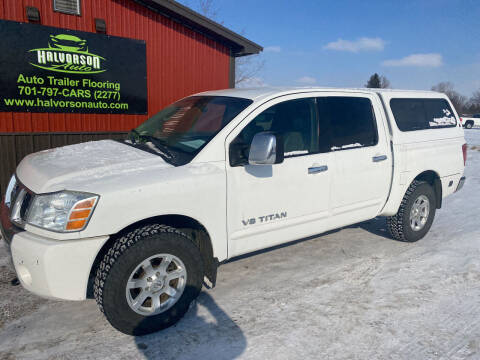 2005 Nissan Titan for sale at HALVORSON AUTO in Cooperstown ND