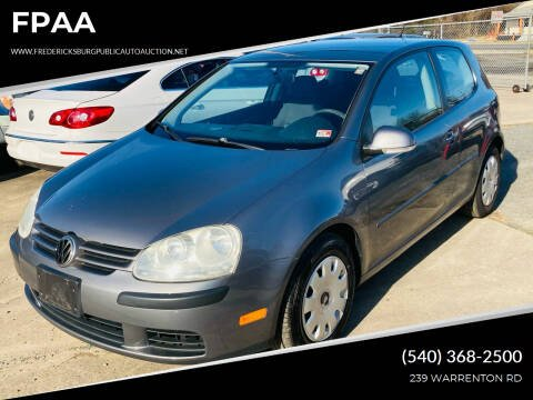 2007 Volkswagen Rabbit for sale at FPAA in Fredericksburg VA