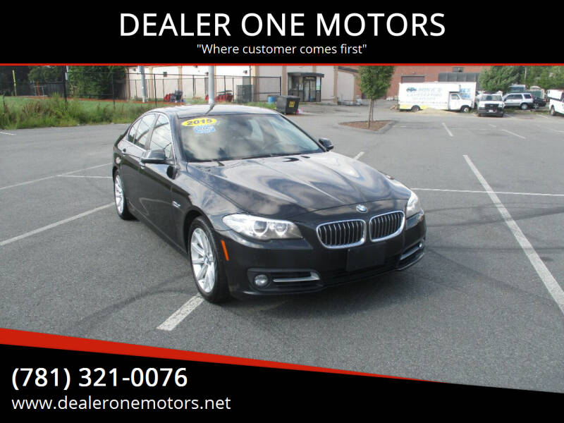 2015 BMW 5 Series for sale at DEALER ONE MOTORS in Malden MA