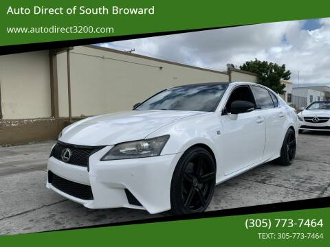 2013 Lexus GS 350 for sale at Auto Direct of South Broward in Miramar FL
