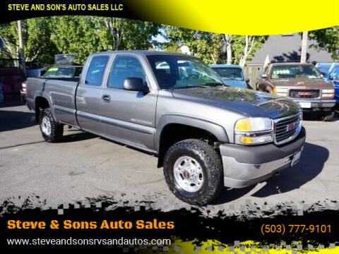 2001 GMC Sierra 2500HD for sale at Steve & Sons Auto Sales in Happy Valley OR