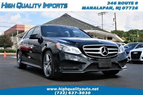 2014 Mercedes-Benz E-Class for sale at High Quality Imports in Manalapan NJ