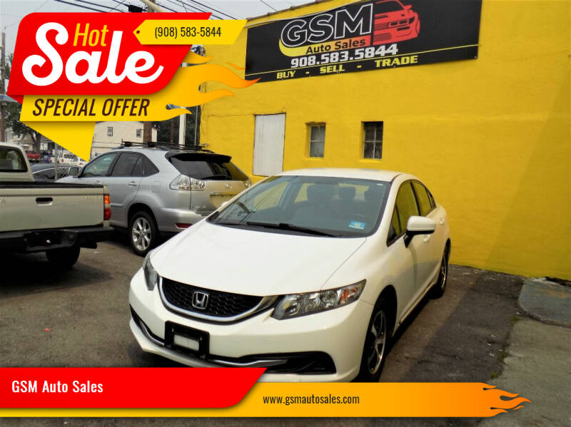 2015 Honda Civic for sale at GSM Auto Sales in Linden NJ