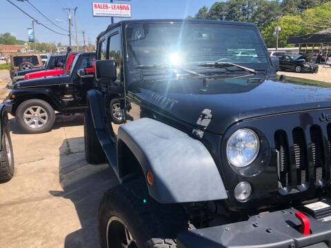 2016 Jeep Wrangler Unlimited for sale at A & K Auto Sales in Mauldin SC