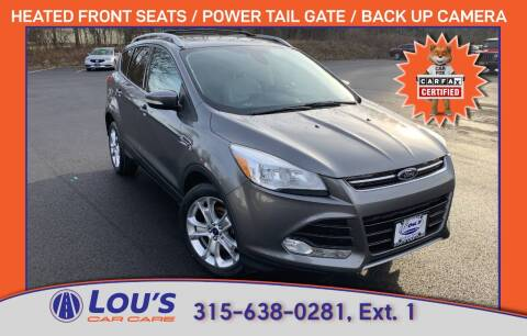 2014 Ford Escape for sale at LOU'S CAR CARE CENTER in Baldwinsville NY
