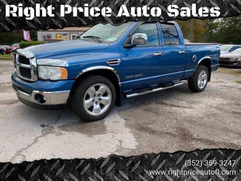 2004 Dodge Ram Pickup 1500 for sale at Right Price Auto Sales in Waldo FL