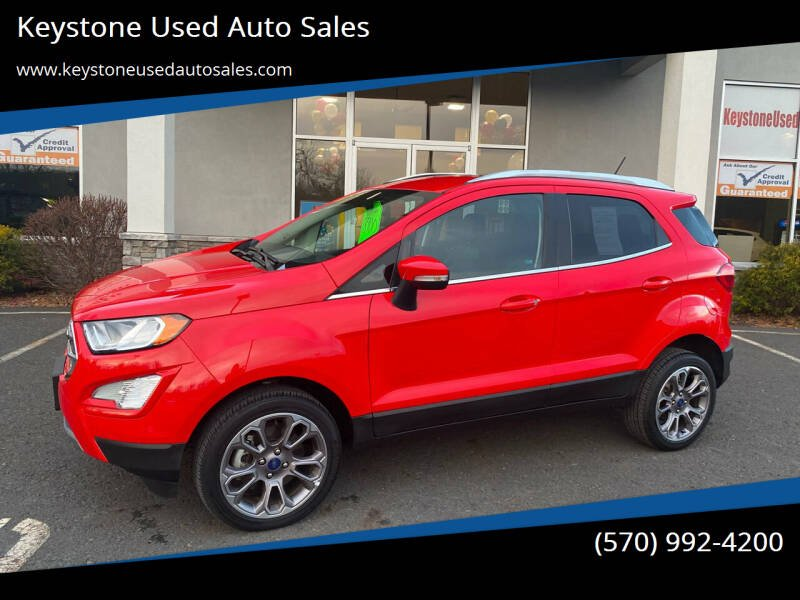 2019 Ford EcoSport for sale at Keystone Used Auto Sales in Brodheadsville PA