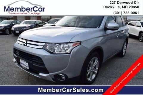 2015 Mitsubishi Outlander for sale at MemberCar in Rockville MD