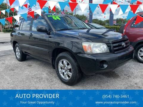 2004 Toyota Highlander for sale at AUTO PROVIDER in Fort Lauderdale FL