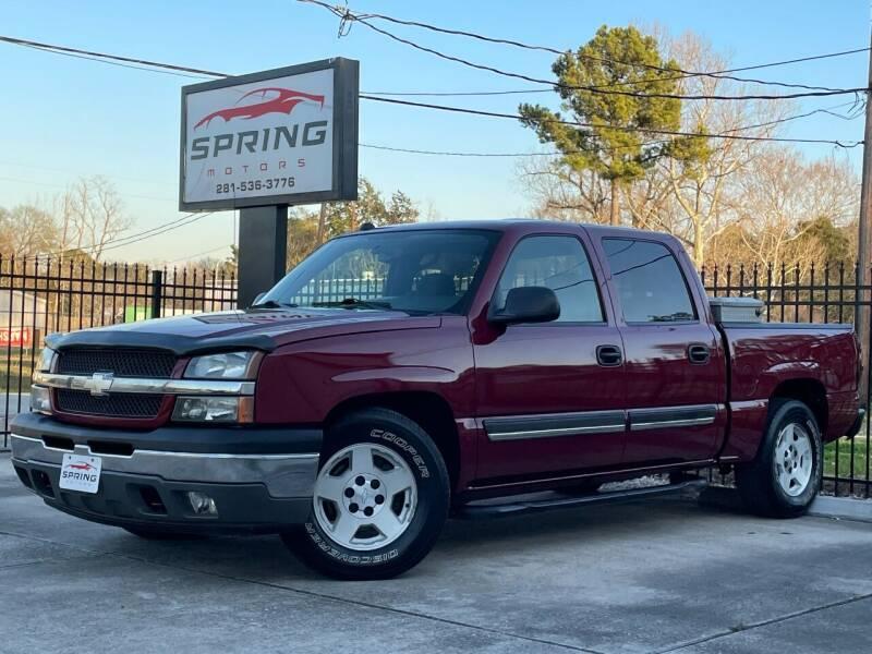 2005 Chevrolet Silverado 1500 for sale at Spring Motors in Spring TX