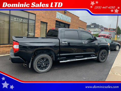 2016 Toyota Tundra for sale at Dominic Sales LTD in Syracuse NY