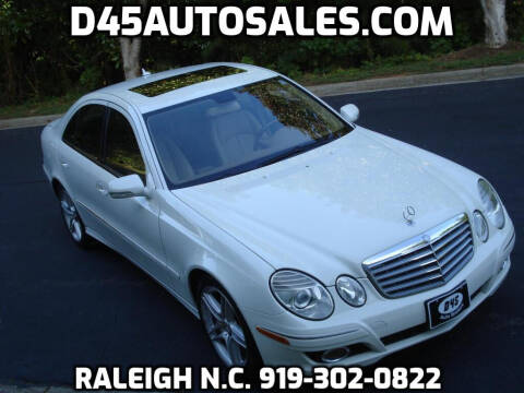 2008 Mercedes-Benz E-Class for sale at D45 Auto Brokers in Raleigh NC