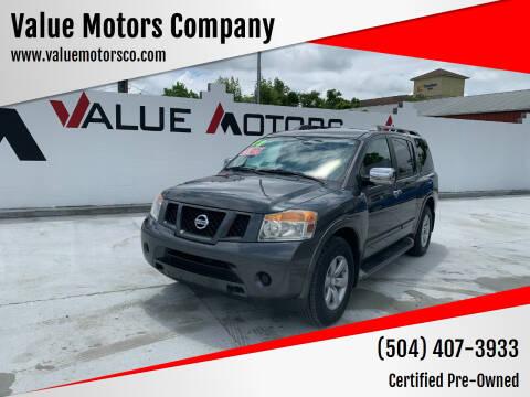 2012 Nissan Armada for sale at Value Motors Company in Marrero LA