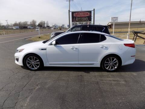 2015 Kia Optima for sale at MYLENBUSCH AUTO SOURCE in O` Fallon MO
