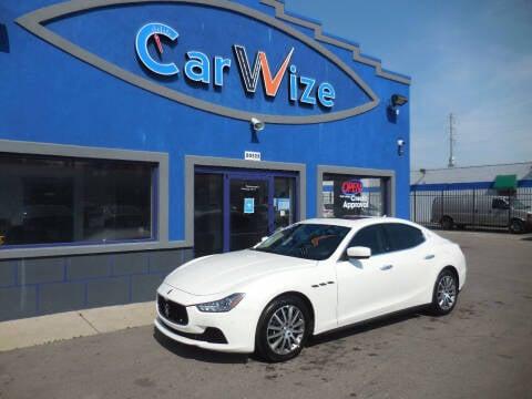 2014 Maserati Ghibli for sale at Carwize in Detroit MI