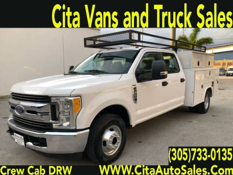2017 FORD F350 SD DRW CREW CAB UTILITY TRUCK for sale at Cita Auto Sales in Medley FL