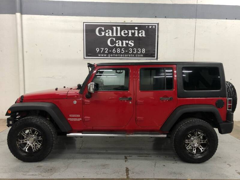 2011 Jeep Wrangler Unlimited for sale at Galleria Cars in Dallas TX
