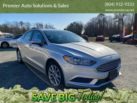 2017 Ford Fusion for sale at Premier Auto Solutions & Sales in Quinton VA
