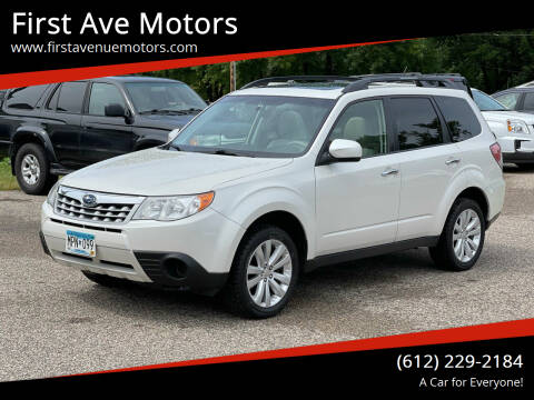 2012 Subaru Forester for sale at First Ave Motors in Shakopee MN