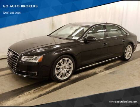 2015 Audi A8 L for sale at GO AUTO BROKERS in Bellevue WA