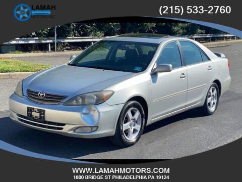 2002 Toyota Camry for sale at LAMAH MOTORS INC in Philadelphia PA