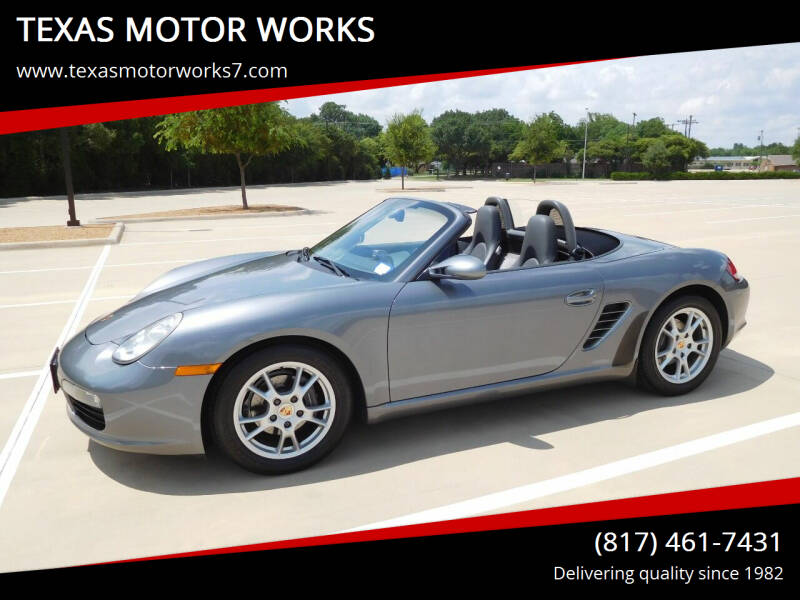 2005 Porsche Boxster for sale at TEXAS MOTOR WORKS in Arlington TX