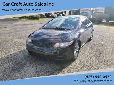 2010 Honda Civic for sale at Car Craft Auto Sales Inc in Lynnwood WA