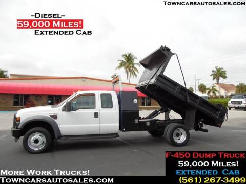 2008 Ford F-450 Super Duty for sale at Town Cars Auto Sales in West Palm Beach FL