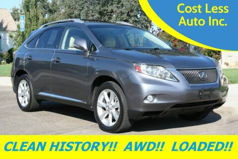 2012 Lexus RX 350 for sale at Cost Less Auto Inc. in Rocklin CA