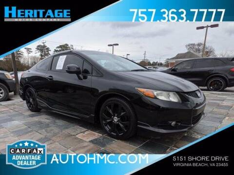 2012 Honda Civic for sale at Heritage Motor Company in Virginia Beach VA