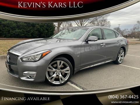 2015 Infiniti Q70L for sale at Kevin's Kars LLC in Richmond VA