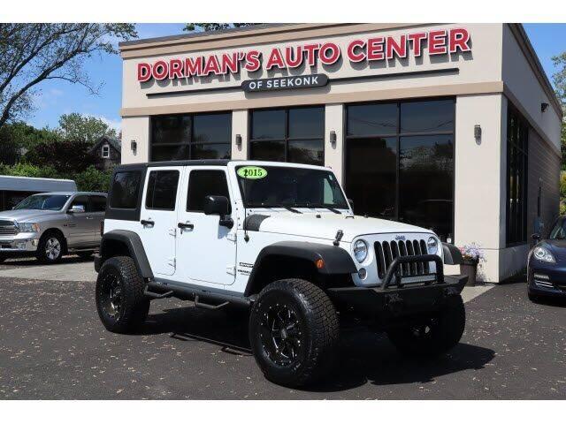 2015 Jeep Wrangler Unlimited for sale at DORMANS AUTO CENTER OF SEEKONK in Seekonk MA