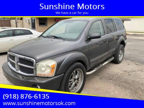2004 Dodge Durango for sale at Sunshine Motors in Bartlesville OK