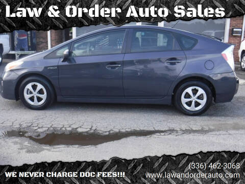 2012 Toyota Prius for sale at Law & Order Auto Sales in Pilot Mountain NC
