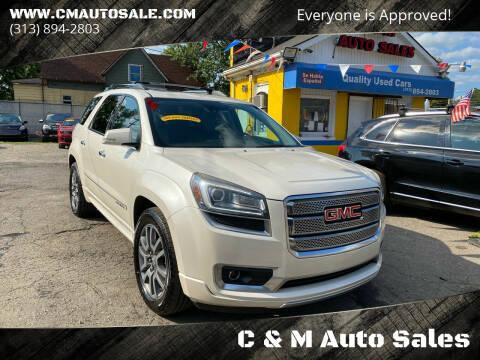 2014 GMC Acadia for sale at C & M Auto Sales in Detroit MI