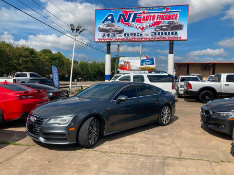 2013 Audi A7 for sale at ANF AUTO FINANCE in Houston TX