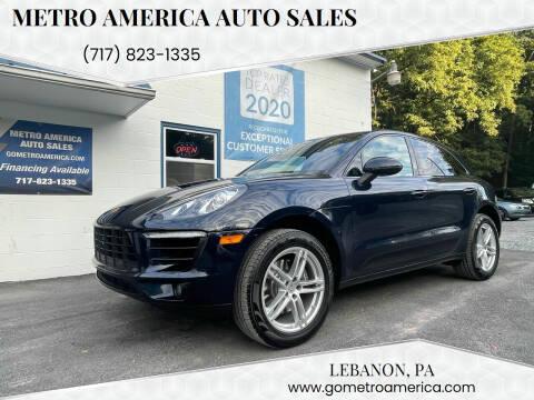 2018 Porsche Macan for sale at METRO AMERICA AUTO SALES of Lebanon in Lebanon PA