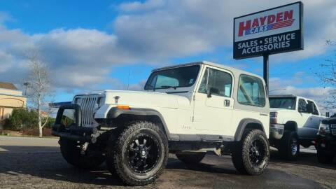 1989 Jeep Wrangler for sale at Hayden Cars in Coeur D Alene ID