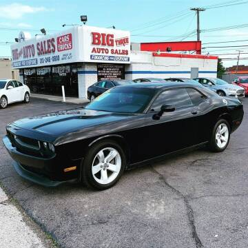 2013 Dodge Challenger for sale at Big Three Auto Sales Inc. in Detroit MI