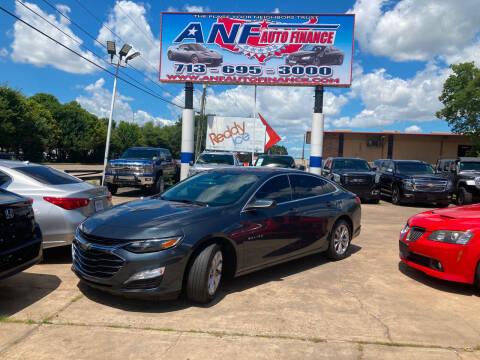 2019 Chevrolet Malibu for sale at ANF AUTO FINANCE in Houston TX
