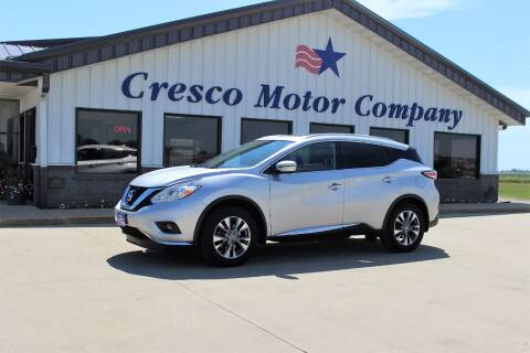 2017 Nissan Murano for sale at Cresco Motor Company in Cresco IA