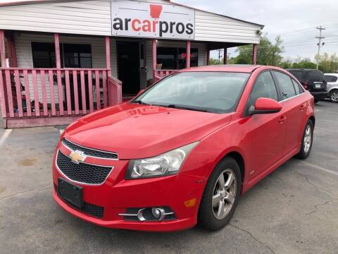 2012 Chevrolet Cruze for sale at Arkansas Car Pros in Cabot AR