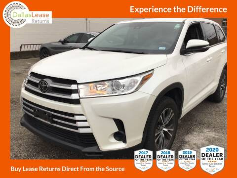2017 Toyota Highlander for sale at Dallas Auto Finance in Dallas TX