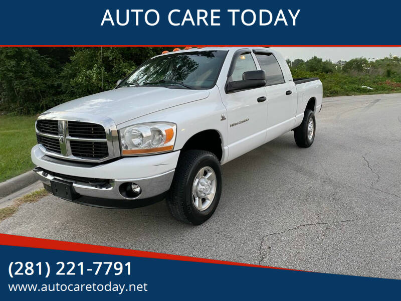 2006 Dodge Ram Pickup 2500 for sale at AUTO CARE TODAY in Spring TX