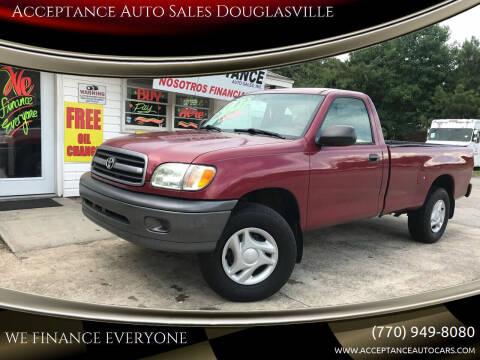 2002 Toyota Tundra for sale at Acceptance Auto Sales Douglasville in Douglasville GA