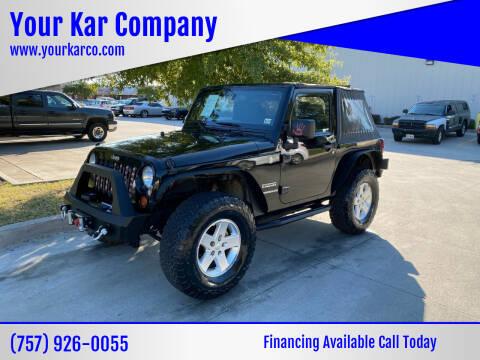 2012 Jeep Wrangler for sale at Your Kar Company in Norfolk VA